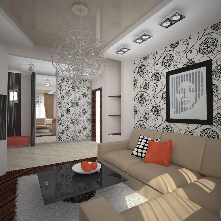living-room-with-wallpaper-idea